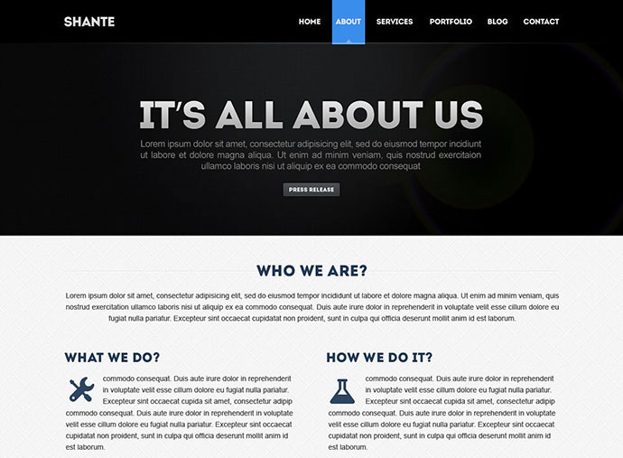 Shante | Corporate PSD Template