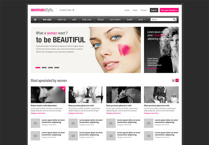95 Beautiful Photoshop Website Templates | Web & Graphic Design ...