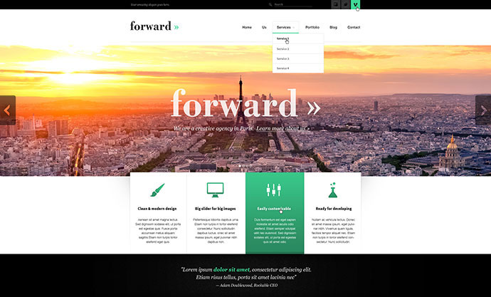 Forward - Creative PSD Template
