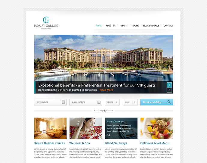 Download Free Hotel Website Template Freakify Com: 95 Beautiful Photoshop Website Templates