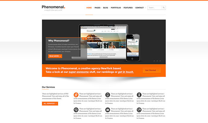 Phenomenal - PSD Template