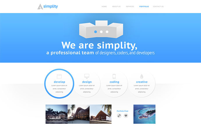 Simplity: Portfolio PSD Theme - Light/Dark Version