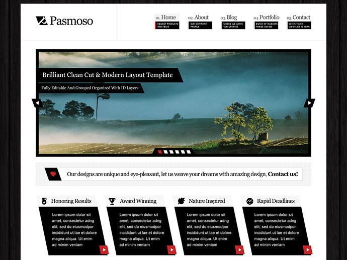 Pasmoso | PSD Template for Corporations