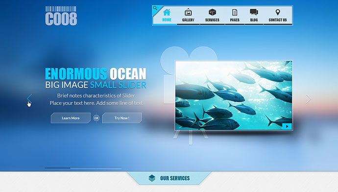 95 beautiful photoshop website templates web graphic design c008 psd template maxwellsz