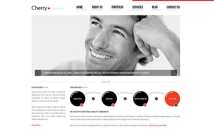 Cherry PSD Template