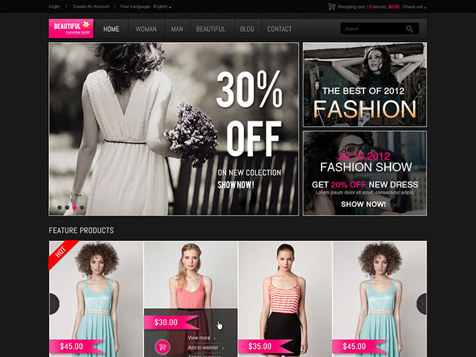 Beautiful Shop PSD