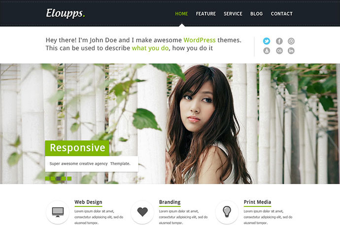 Eloupps: Agency Corporate Business Theme