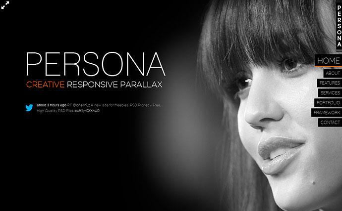Persona - HTML5 Responsive Creative Parallax