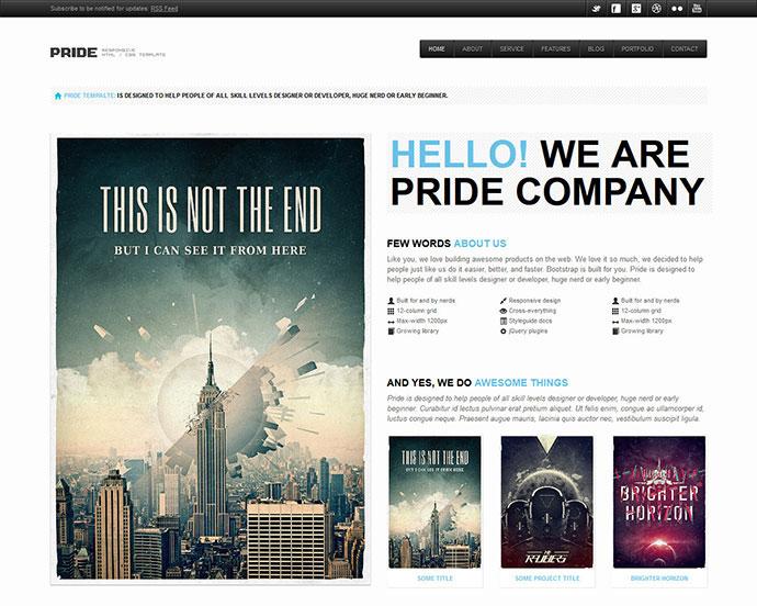 PRIDE - Responsive HTML Template