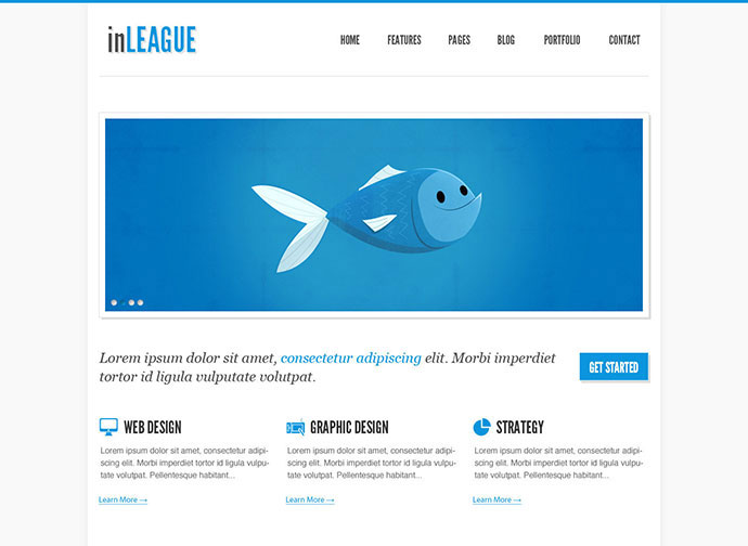 inLEAGUE Portfolio/Blog - Responsive HTML Template