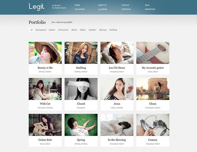 Legit - HTML 5 Responsive Portfolio Template