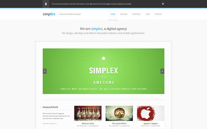Simplex - Responsive HTML5 Template