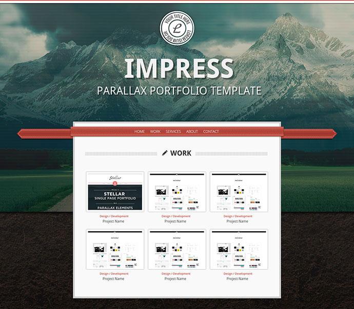 Impress - Parallax Portfolio Template