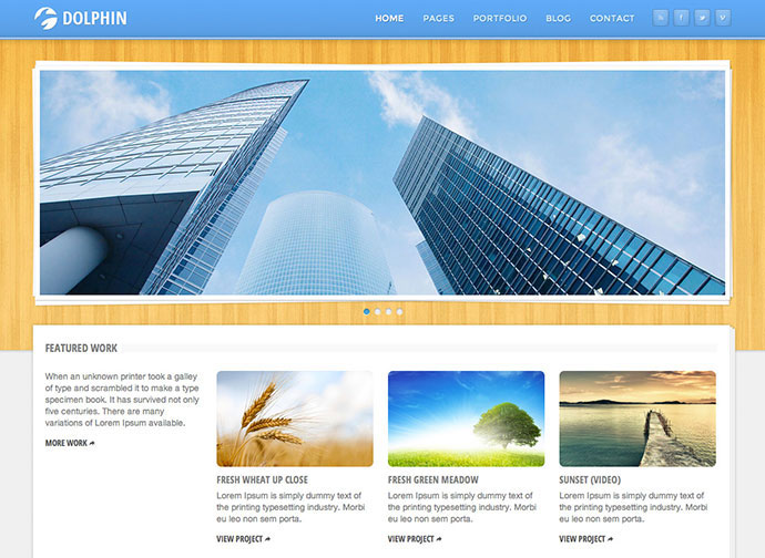 Dolphin - Responsive Site Template