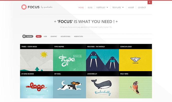 Focus - Clean Responsive Portfolio Template