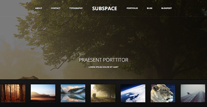 70 cool website templates for artists photographers designers