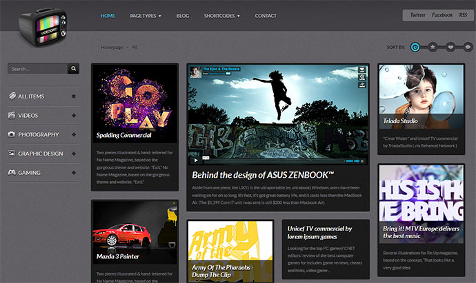 70 cool website templates for artists photographers designers videogrid video photo showcase html theme maxwellsz