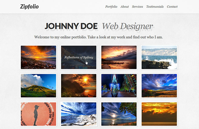 Zipfolio - Single Page Portfolio Template