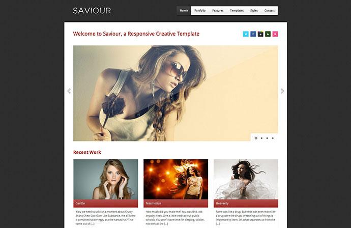 Saviour - Responsive Creative HTML Template