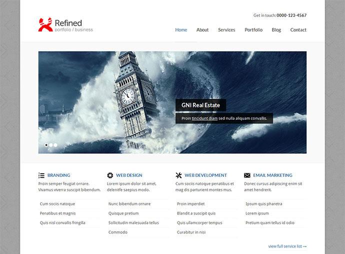 Refined — Portfolio / Business xHTML Template