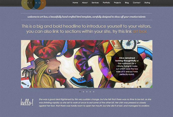 ArtBox - Creative Scrolling Portfolio Template