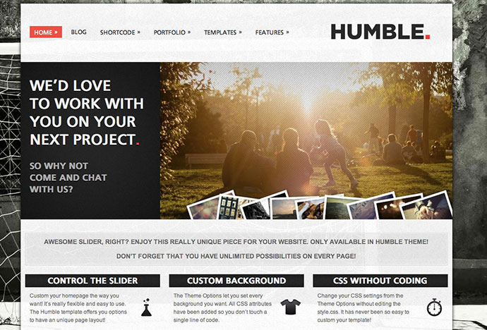 Humble - Portfolio and Business Theme - HTML Version