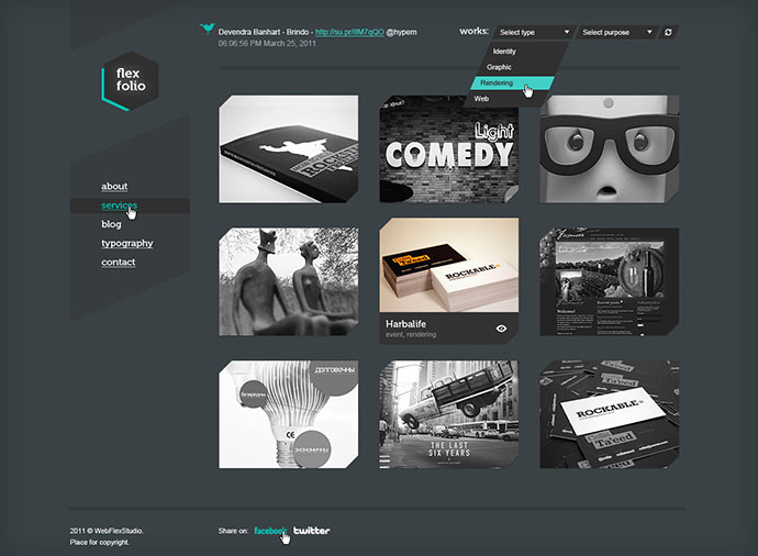 70 cool website templates for artists