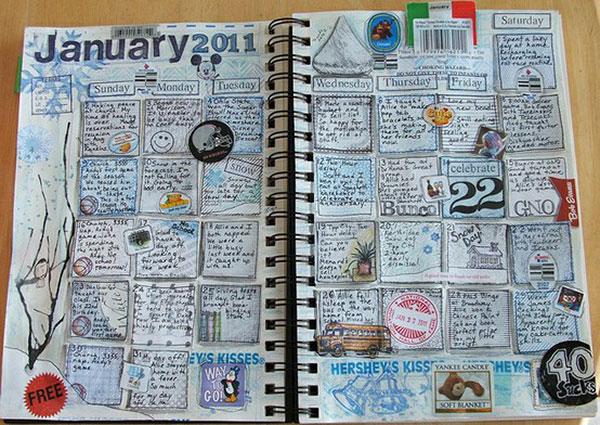 Art Journal Calendar Tutorial : Inspiring creative sketchbooks web graphic design