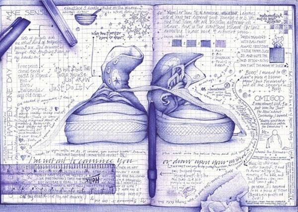 Рисунки шариковой
