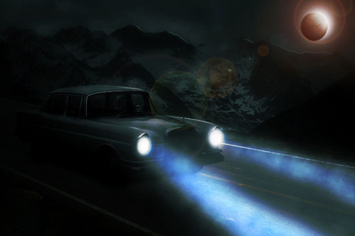 Moonlit Night Scene in Photoshop