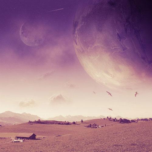 Space Landscape Photo Manipulation
