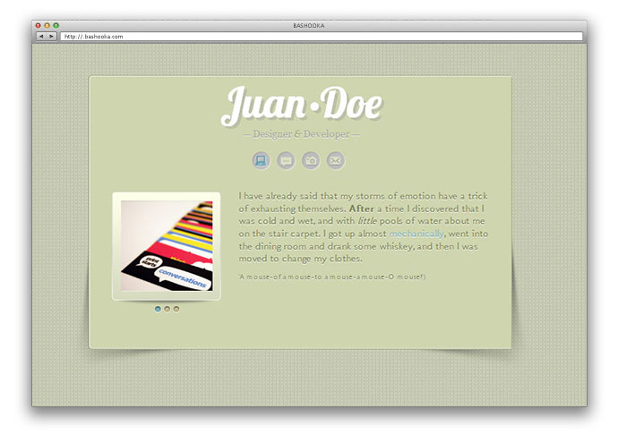 All Down the Line: A Mini vCard site for Tumblr