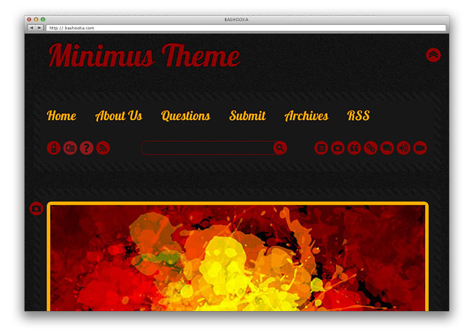 Minimus Tumblr Theme - 2 in 1
