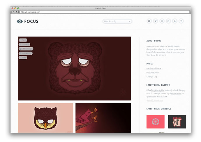 30 Cool Tumblr Themes Web Amp Graphic Design Bashooka