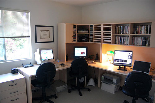 home office workstations. Contemporary Home Home Office With Workstations E