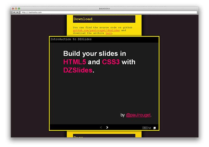 10 best html/css based presentation slides | web & graphic design, Presentation templates