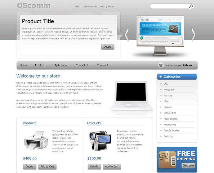 OScomm E-commerce Template