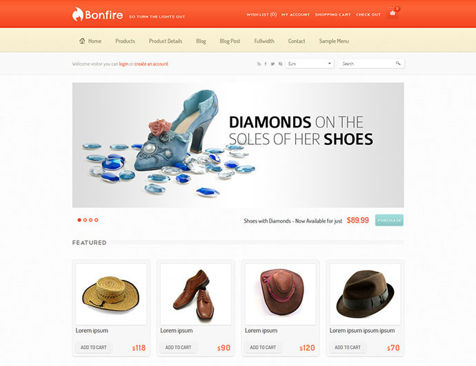 40 Best E-Commerce Website Templates | Web & Graphic Design | Bashooka