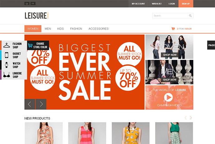 40 Best E Commerce Website Templates Web Graphic Design Bashooka