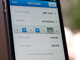 Edit Class iPhone UI
