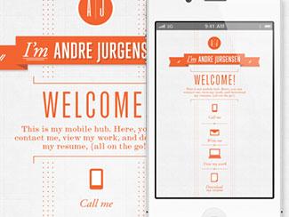 Mobile portfolio page