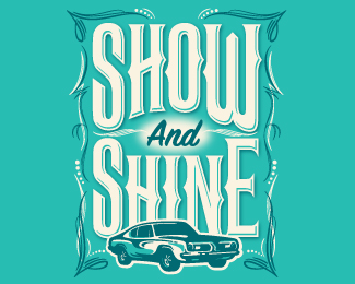 Show and Shine car show logo