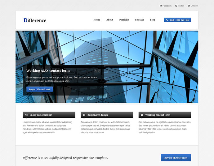 Difference - Responsive Business Template