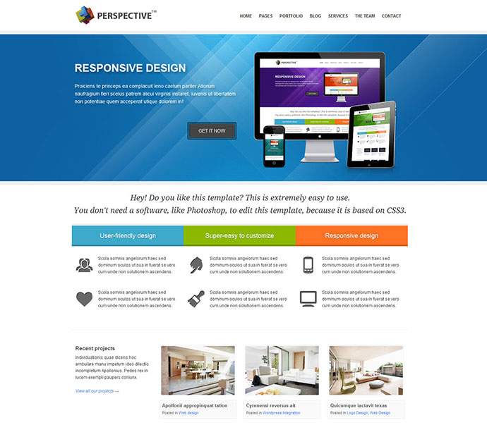 Perspective - Responsive HTML5 Template