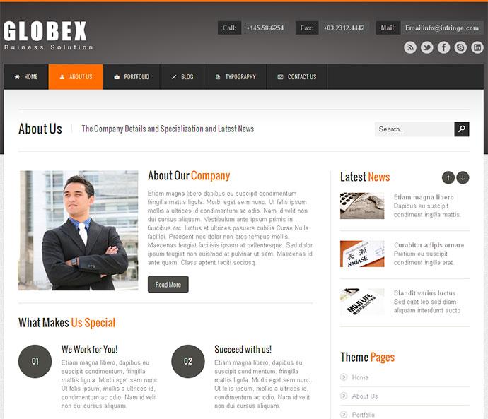Globex - Responsive HTML Template