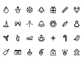 Free Christmas Vector Icon Set