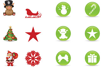 Free Smashing Christmas Icon Set