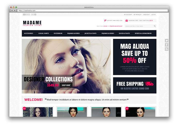 Madame - Responsive Fashion Store Magento Theme
