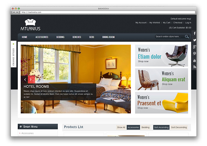 Furniture magento theme MT Lanius