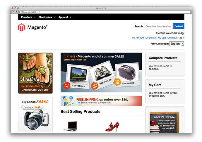 19 Free Premium Responsive Magento Templates 2016 Web Graphic